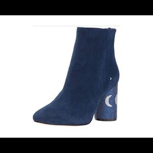 Katy Perry Blue Suede The Mayari Ankle Boots 6.5M